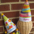 Monogrammed Childrens Party Hat