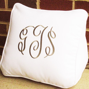 Monogrammed Pillow Wedge