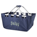 Monogrammed Canvas Market Tote